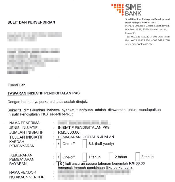 SME Digital Grant 2021 Approved Letter